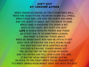 Poem Dont Quit