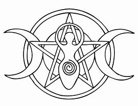 Triple Goddess Coloring Page Coven Life