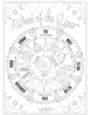 Printable Coloring Pages For Children And Adults Coven Life